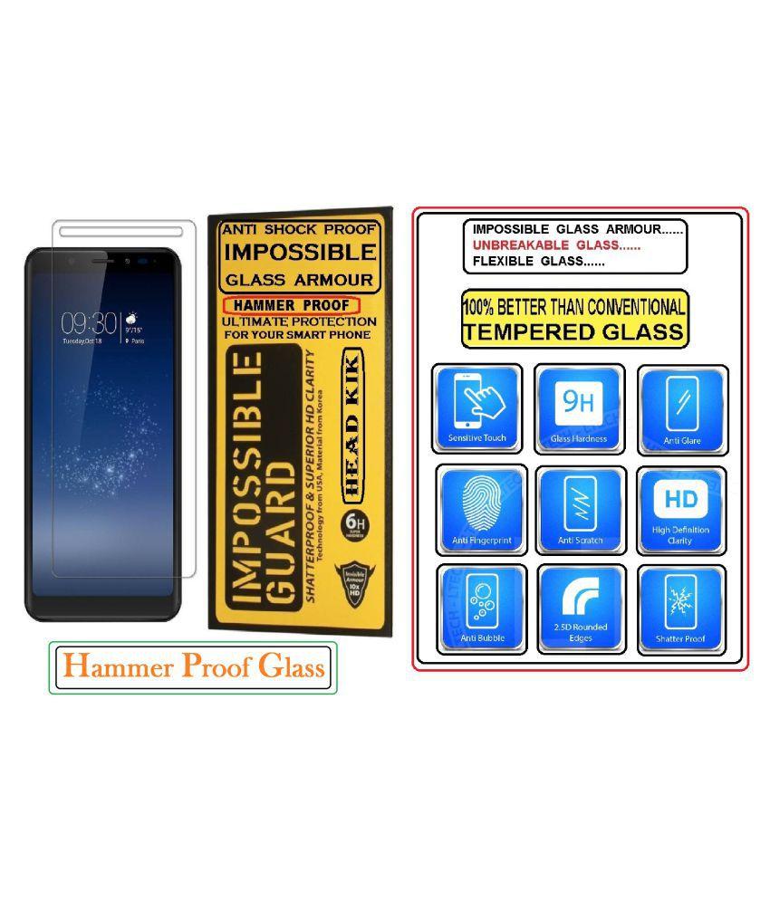 Nokia 7 Tempered Glass Screen Guard By Head Kik 100% Unbreakable 100% Shatterproof 100% Impossible