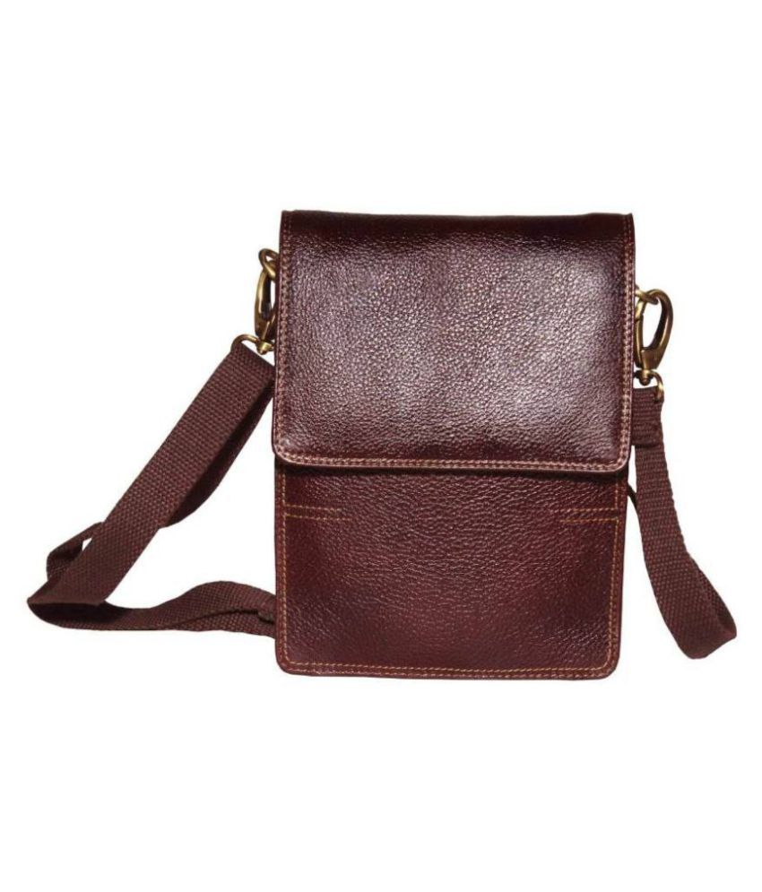 98a4ea180f Tamanna Boys   Girls Brown Genuine Leather Sling Bag - Buy Tamanna Boys   Girls  Brown Genuine Leather Sling Bag Online at Low Price - Snapdeal