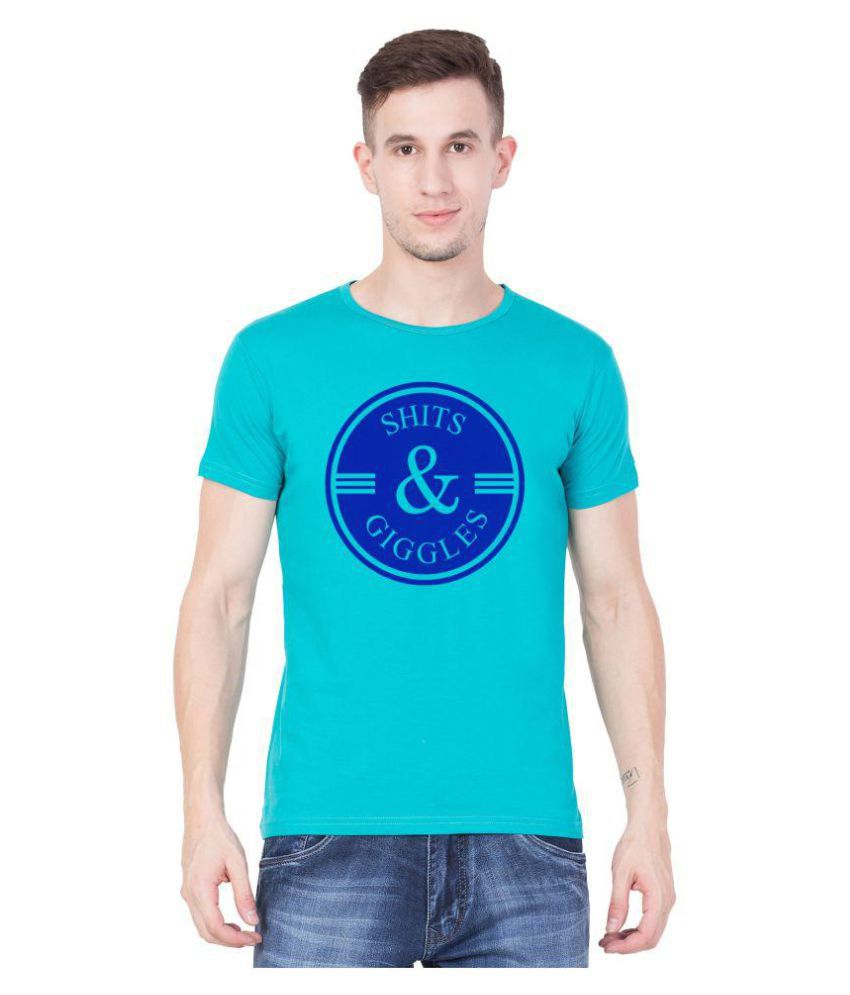 American-Elm Turquoise Half Sleeve T-Shirt Pack of 1