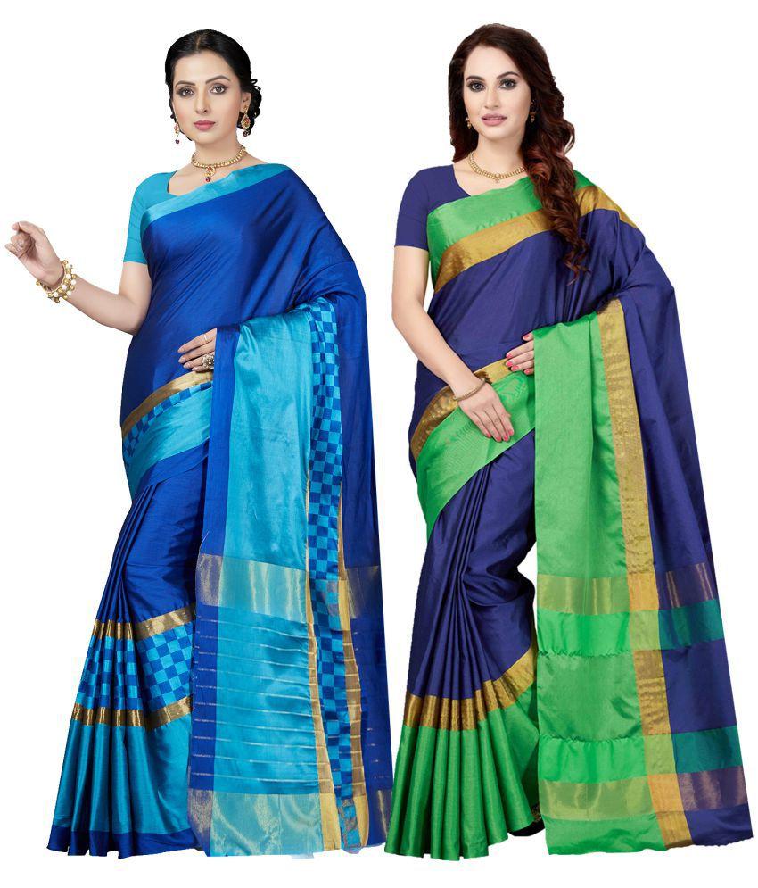Ishin Multicoloured Silk Saree Combos