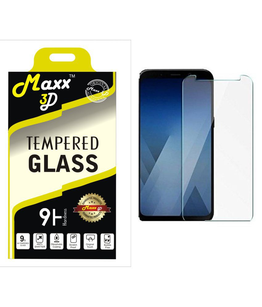 Samsung Galaxy A8 Plus Tempered Glass Screen Guard By MAXX3D