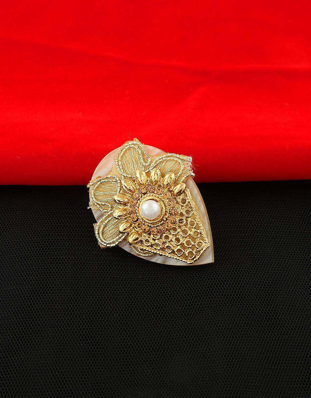 Anuradha Art Golden Colour Simple Stylish Sari//Saree Pin for Women//Girls