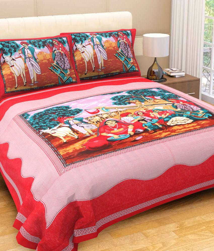 CLOUD INDIA Cotton Double Bedsheet