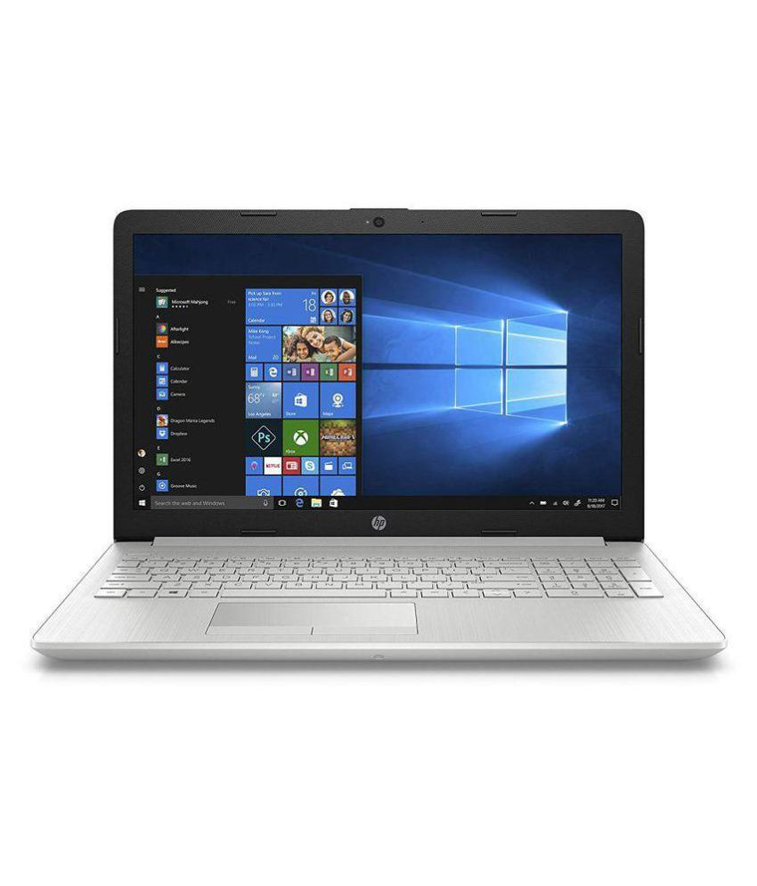 HP 15-da0326tu 2018 15.6-inch FHD Laptop (7th Gen Intel Core i3-7100U/4GB/1TB/Windows 10/Integrated Graphics), Natural Silver