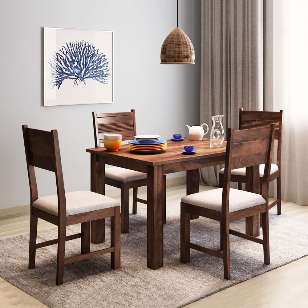 Alquiler Hove Sheesham Wood 6 Seater Dining Table Set ...