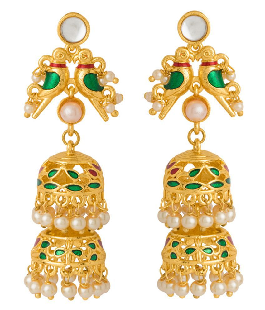 Voylla Vyoma Pride Gold Plated Jhumka Earrings