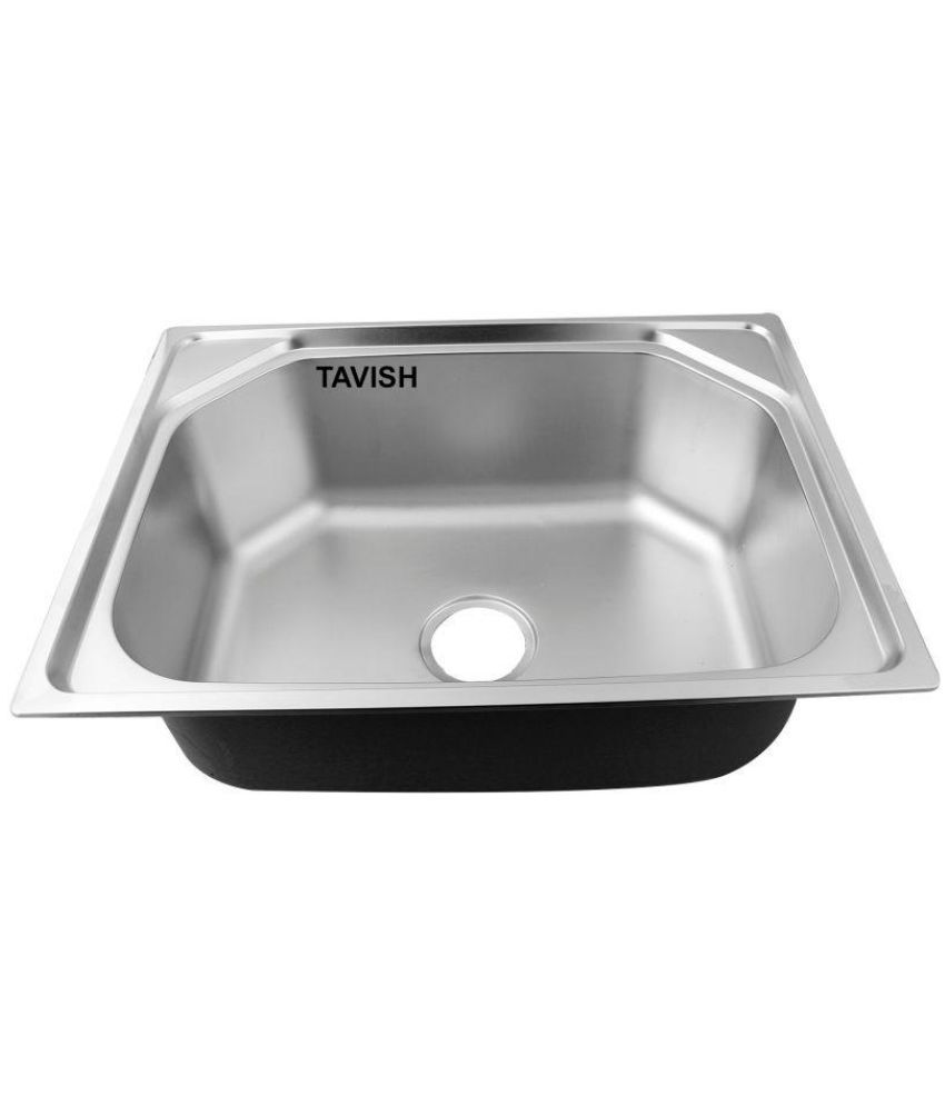 buy tavish matte finish 304 stainless steel kitchen sink 24 x 18 x rh snapdeal com