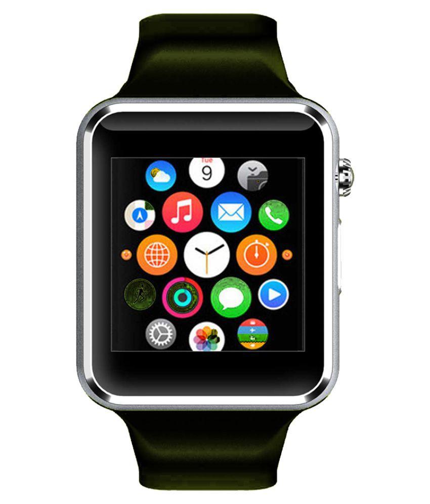 WOKIT Smartwatch Suited Intex Aqua Power IV A1 Silver Smart Watches