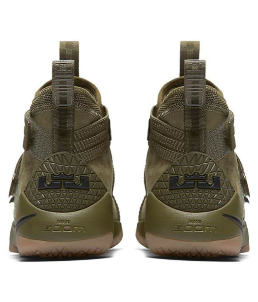 half off c0d4c f265b ... Nike LeBron Soldier XI SFG Camo Olive Basketball Shoes ...