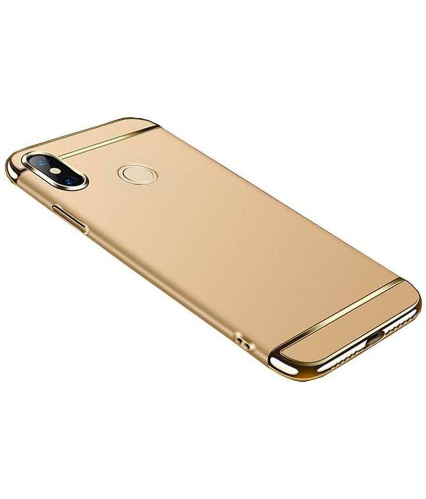 Vivo Y69 Plain Cases Doyen Creations - Golden 3 In 1 Back Cover