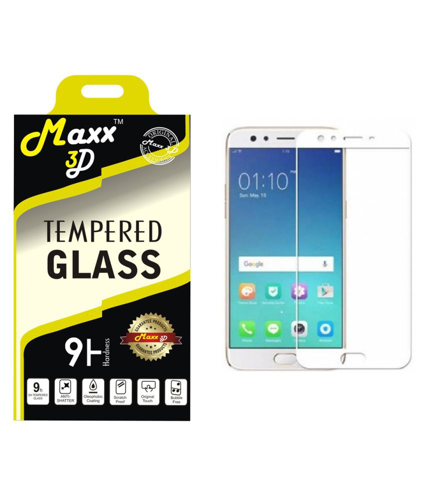 Oppo F3 Tempered Glass Screen Guard By MAXX3D