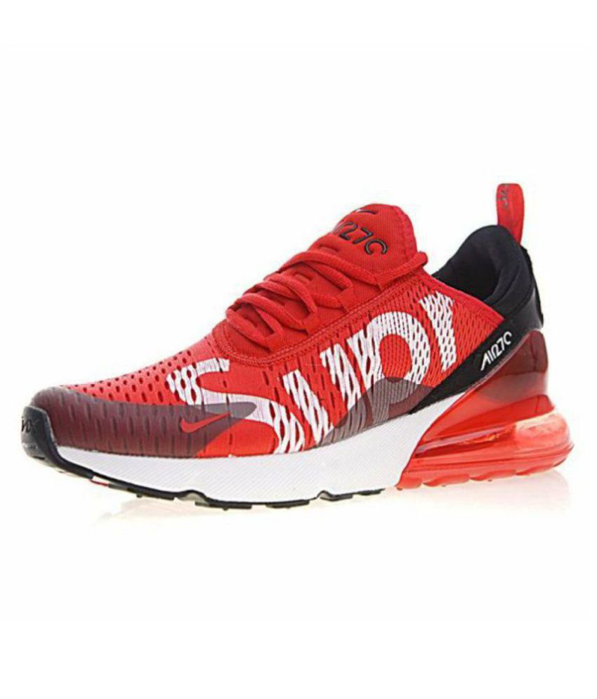 the best attitude 2b22d da131 Nike Air Max 270 Supreme LTD Edition Red Running Shoes - Buy ...