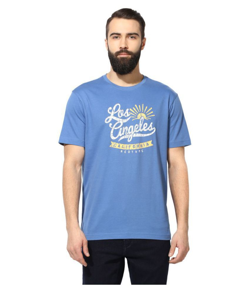 Red Tape Blue Half Sleeve T-Shirt
