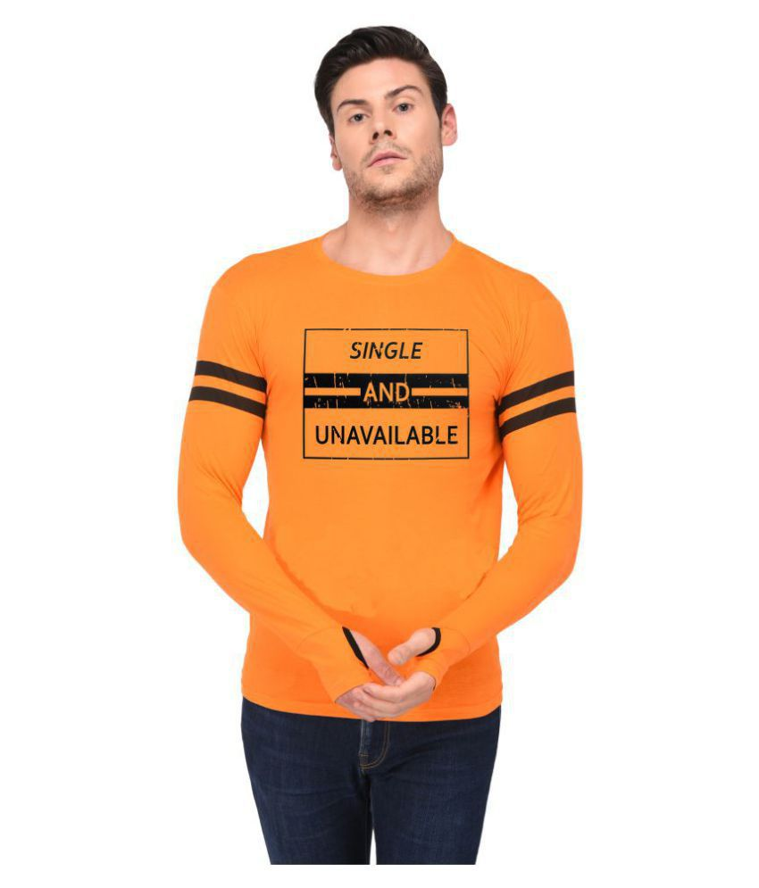 Trends Tower Orange Full Sleeve T-Shirt
