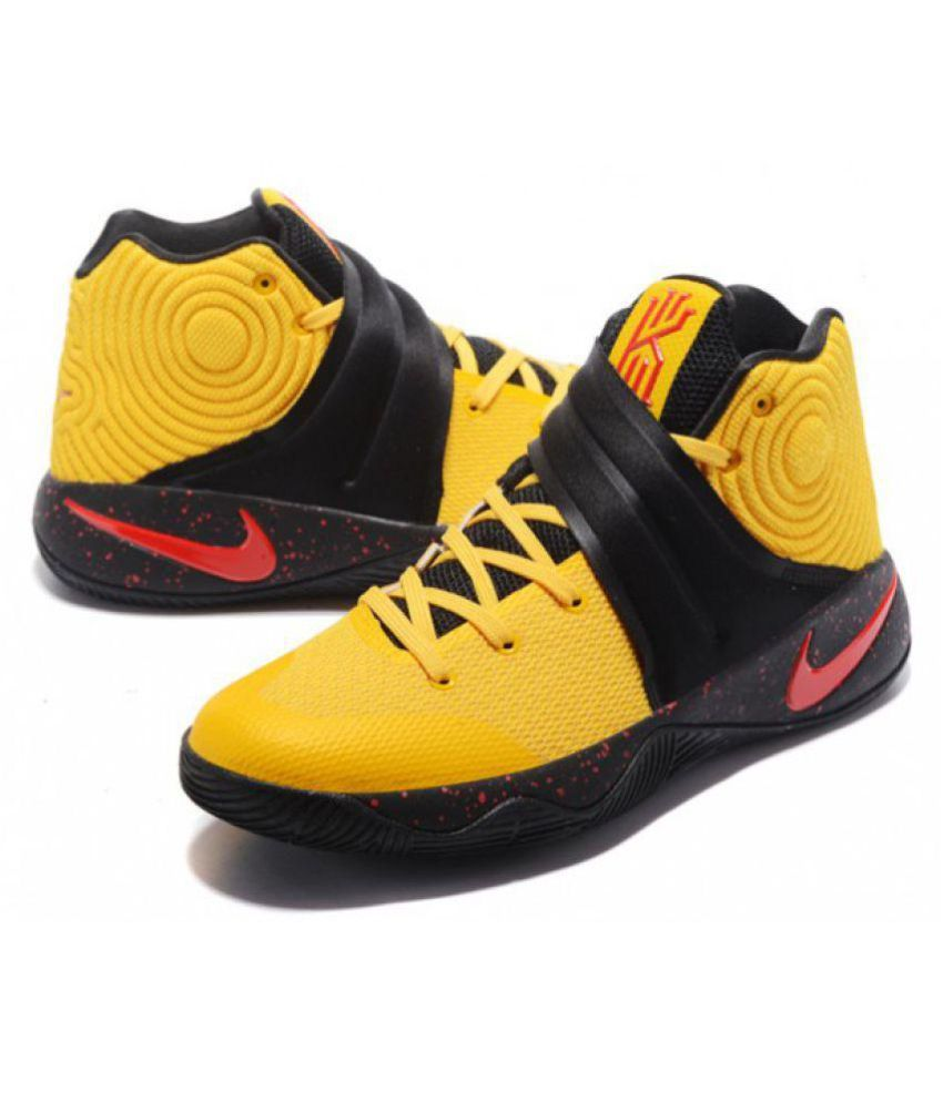 low priced 0a5b9 164f5 Nike Kyrie 2 Red Black Yellow Basketball Shoes