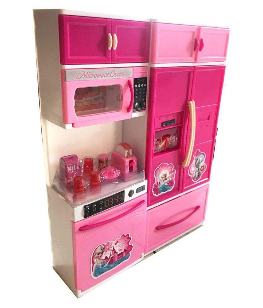 Maruti Enterprise Pink Barbie Modern Kitchen Set For Kids Buy Maruti Enterprise Pink Barbie Modern Kitchen Set For Kids Online At Low Price Snapdeal