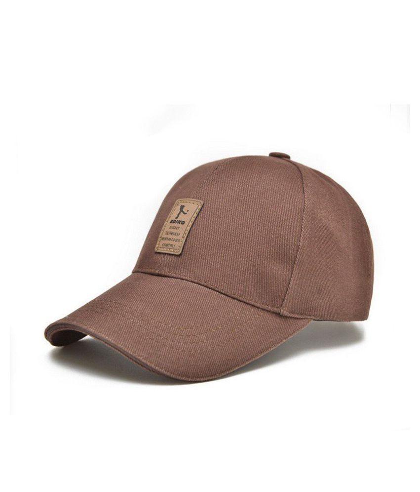 Gange Brown Polyester Caps
