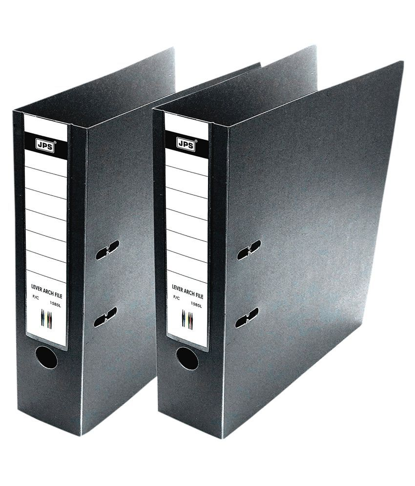 Box Office File, Excecutive/ Corporate Series Polymer FC Lever Arch Office File - 2pk (Black)