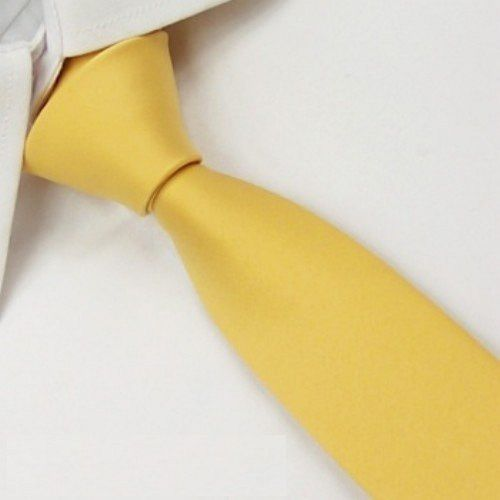 Kamalife Khaki Plain Silk Necktie