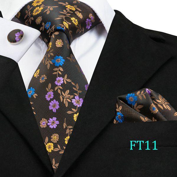 Kamalife Yellow Floral Silk Necktie