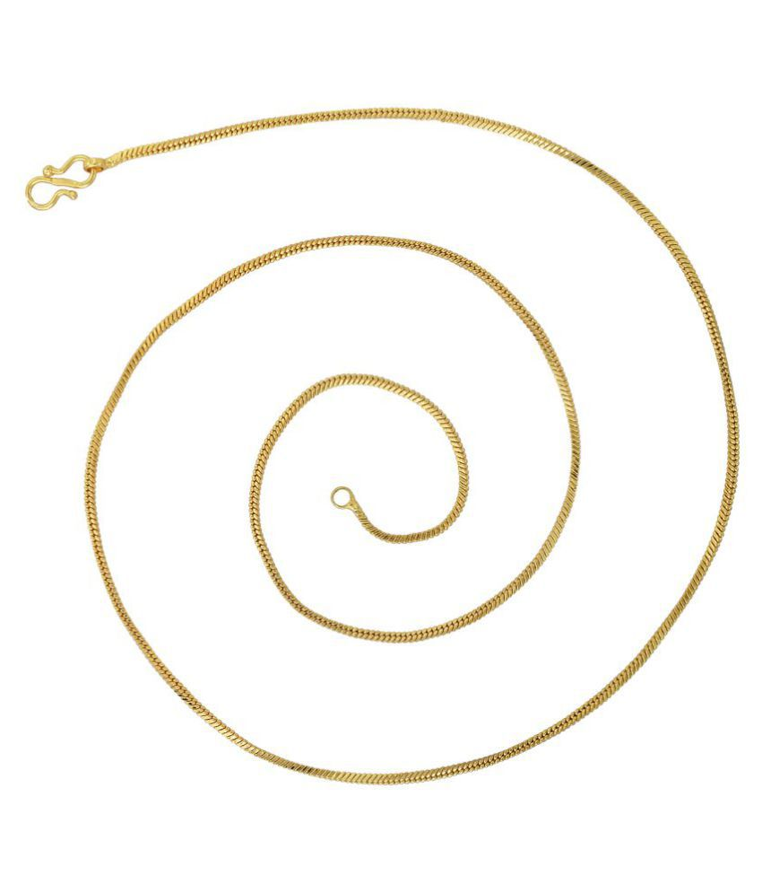 fc42b7107be ... Memoir Gold plated thin and sober, light weight dailyuse Fashion chain  Men women ...