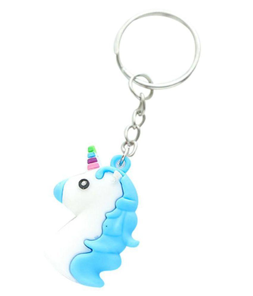 Mini Lovely Unicorn Pendant Silicone Men Women Bag Hangings Keyring Key Chain