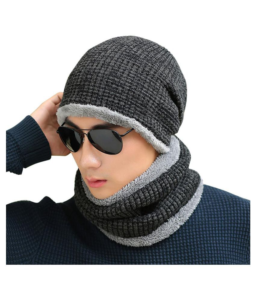 Generic black Knitted Acrylic Hats