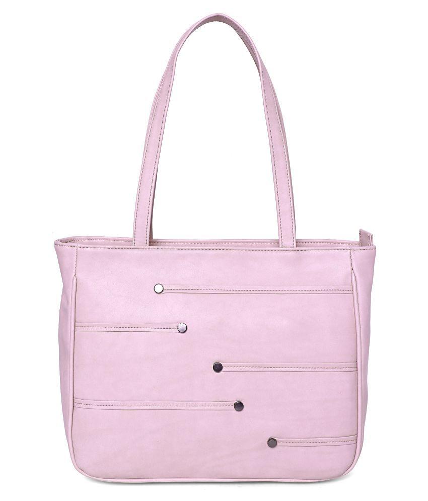 Butterflies Pink Artificial Leather Handbags Accessories