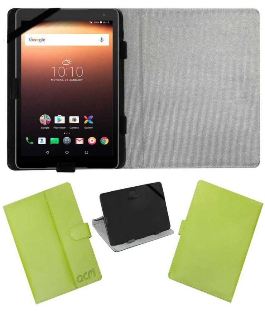 best cheap 9a25f dac7e Alcatel A3 10 Flip Cover By ACM Green