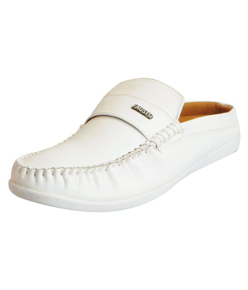 5bea6d48021 Fausto White Loafers - Buy Fausto White Loafers Online at Best Prices in  India on Snapdeal