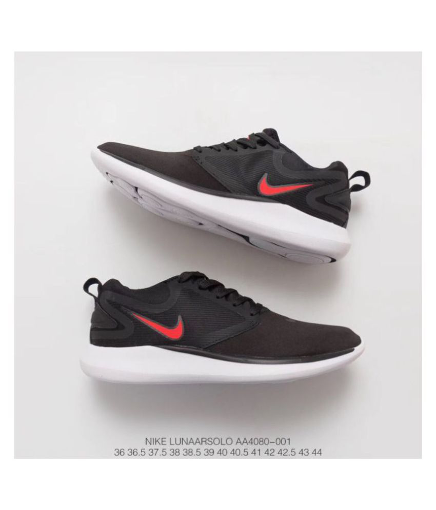 16d45dfe2765 Nike Nike Lunarsolo 2018 Black Red Black Running Shoes - Buy Nike Nike  Lunarsolo 2018 Black Red Black Running Shoes Online at Best Prices in India  on ...