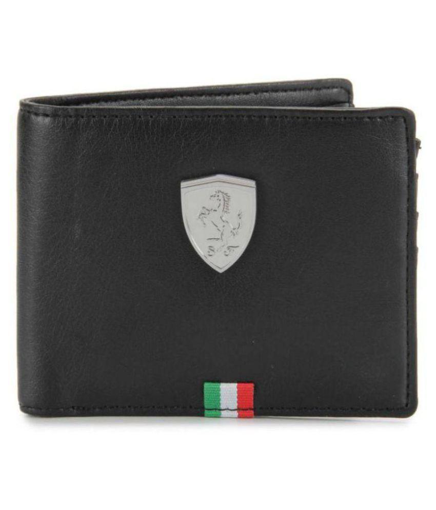 Puma F1 Leather Black Casual Regular Wallet