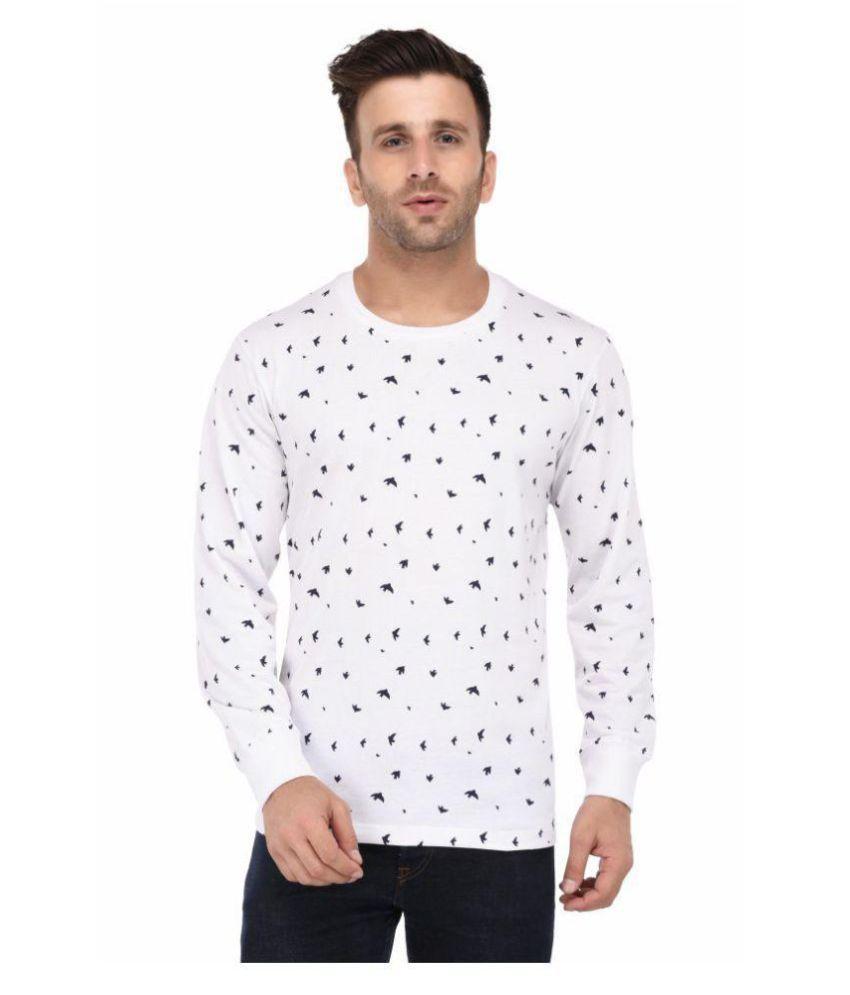 Vivid Bharti White Full Sleeve T-Shirt