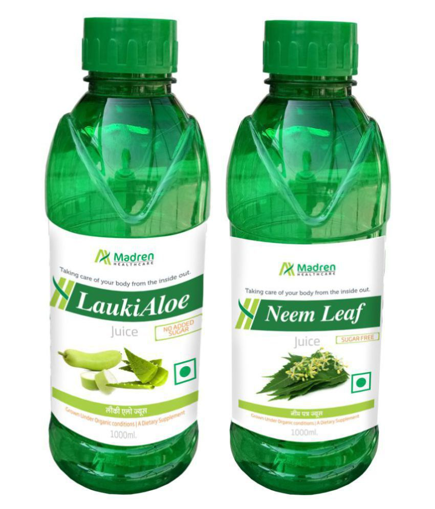 Madren Healthcare Lauki Aloe & Neem Juice Health Drink 2000 ml