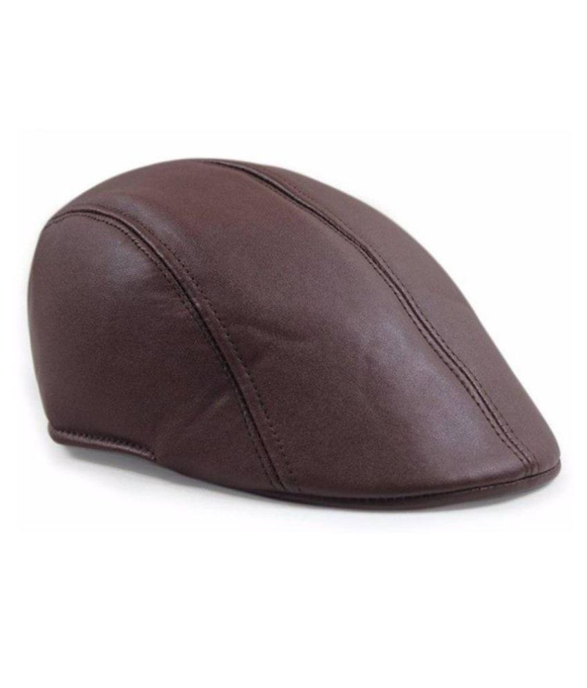 Tahiro Brown Leather Golf Cap - Pack Of 1  Buy Online at Low Price in India  - Snapdeal b0e1749a4e8