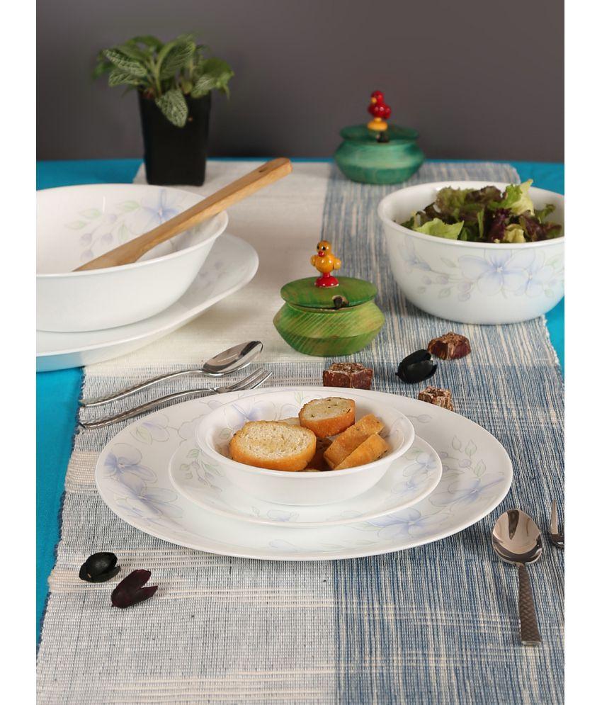 Corelle 57-LP Glass Dinner Set of 57 Pieces