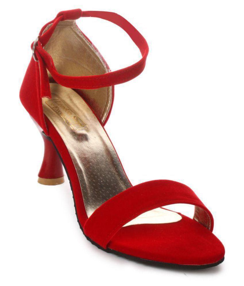 3f32b534012a London Steps Red Kitten Heels Price in India- Buy London Steps Red Kitten  Heels Online at Snapdeal