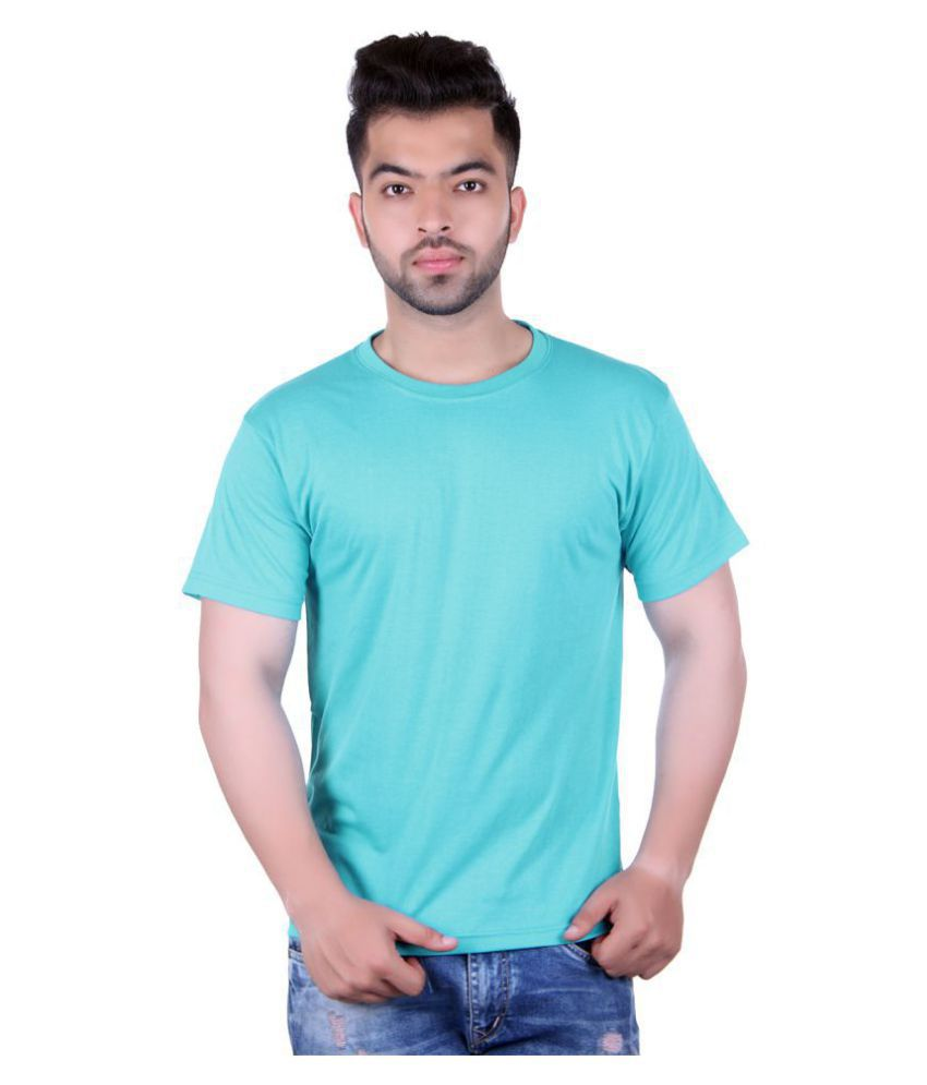 HARBOR N BAY Turquoise Half Sleeve T-Shirt
