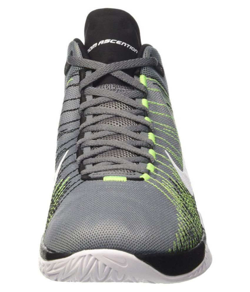 9199f0a3dbfb Nike Zoom Ascention Gray Basketball Shoes - Buy Nike Zoom Ascention ...