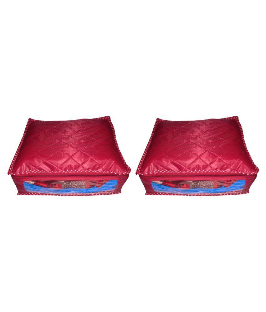 shivansh traders Maroon Saree Covers - 2 Pcs