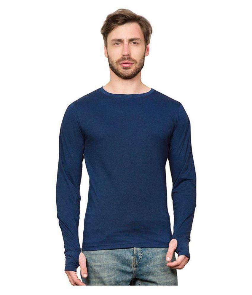 PAUSE Blue Full Sleeve T-Shirt