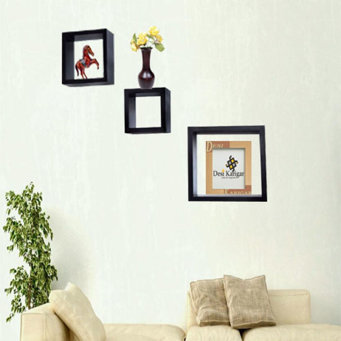 desi karigar wall mount shelves square shape set of 3 wall shelves rh snapdeal com 3 small wall shelves 3 tier wall shelves