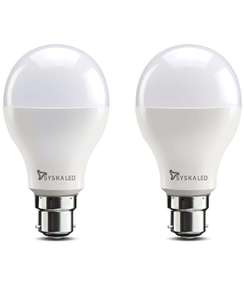 Syska 18W LED Bulbs Cool Day Light   Pack of 2