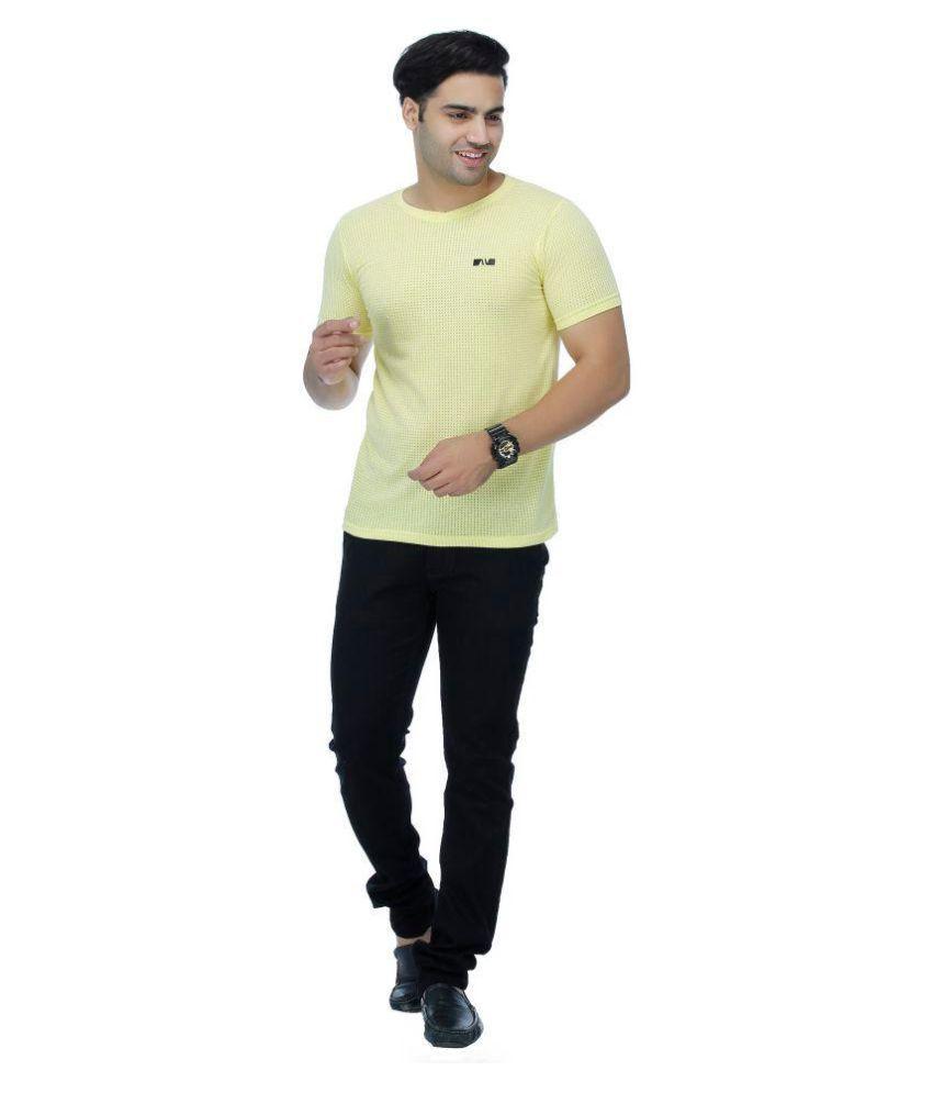Aliens Valley Yellow Half Sleeve T-Shirt