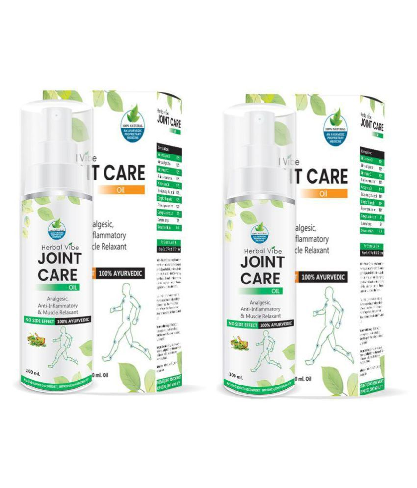 Herbal Vibe Joint Care Oil 100 ml Pack Of 2