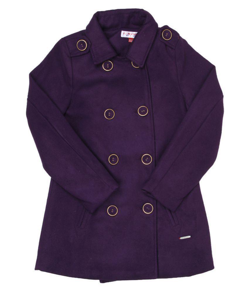 US Polo Girls Purple Casual Jacket