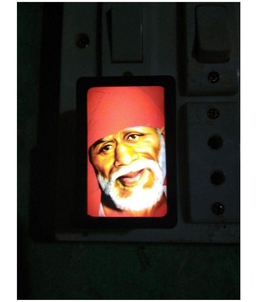 Shinde patil exports SAI BABA Night Lamp Multi - Pack of 1