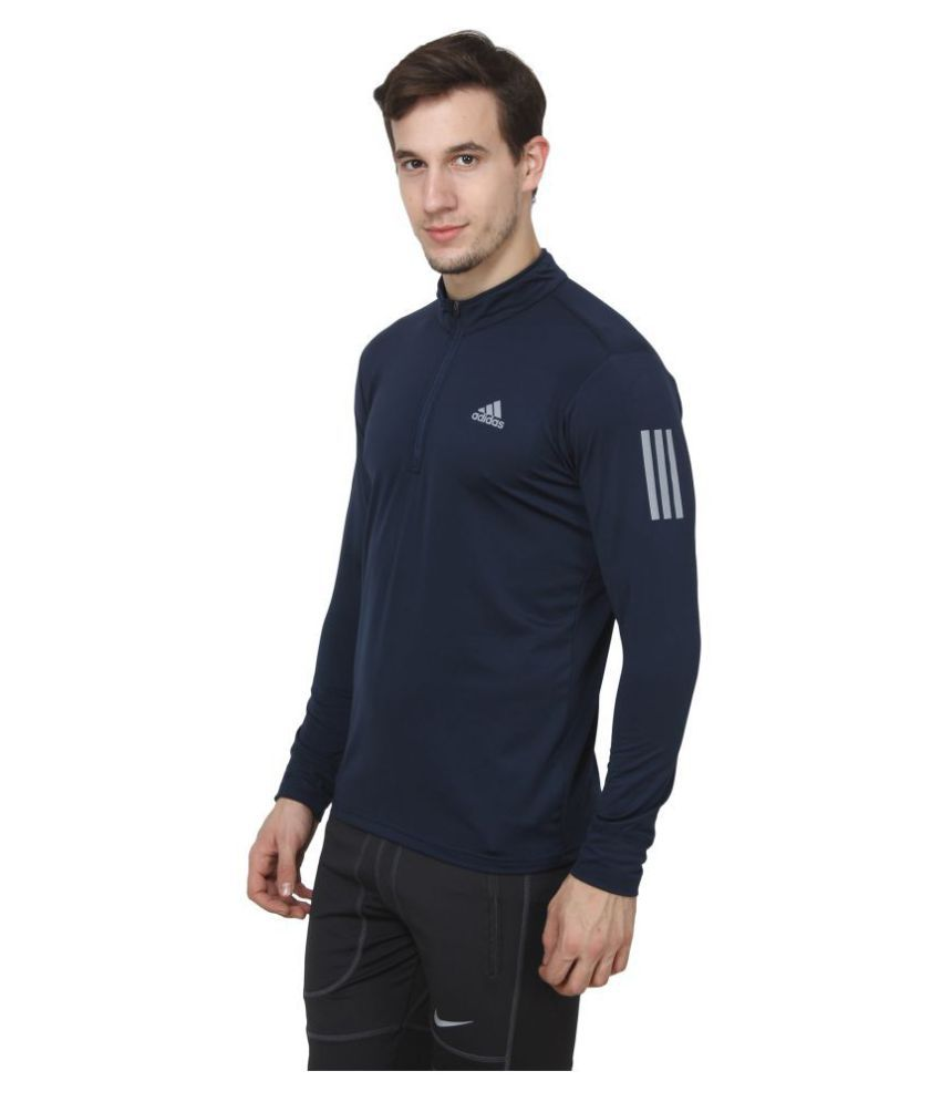 Adidas Navy Full Sleeve T-Shirt