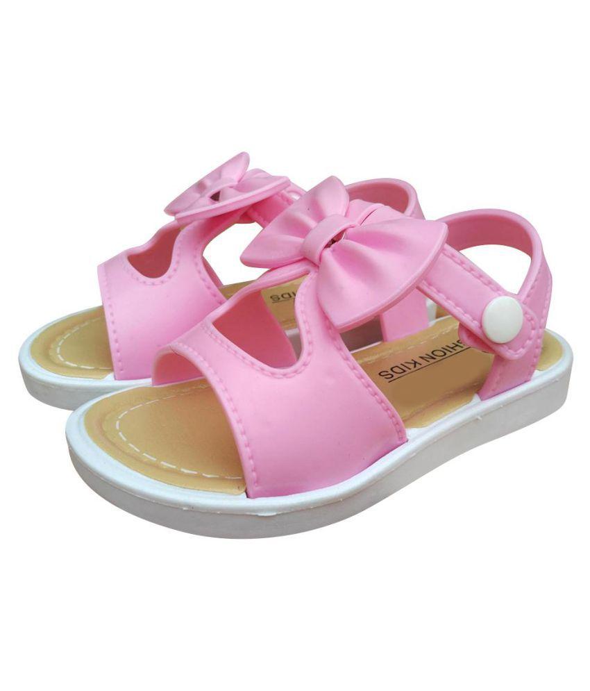 Summer Kids Children Girls Sandals Fashion Cute Bowknot Faux