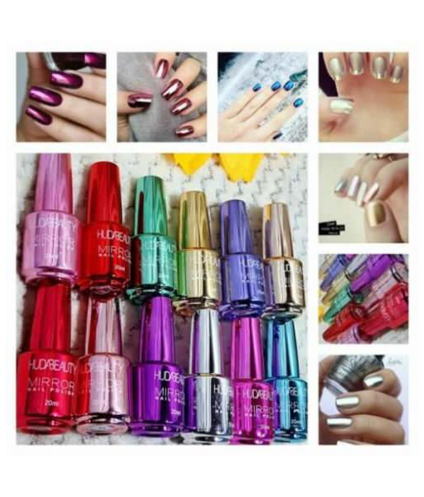 Huda Beauty Nail Polish Mirror Effect Random Color Mirror Metallic 15 ml Pack of 4